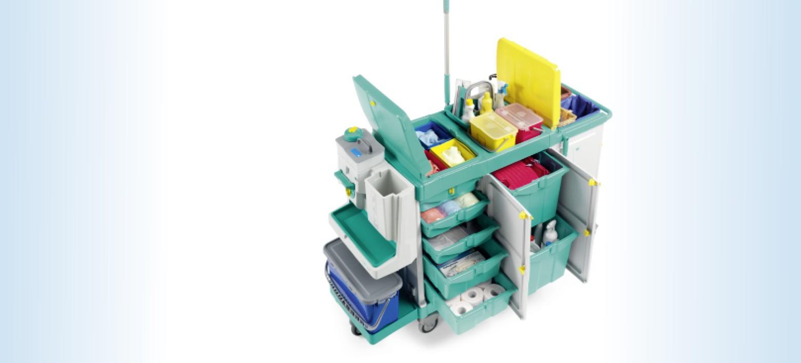 Chariots et systèmes de nettoyages